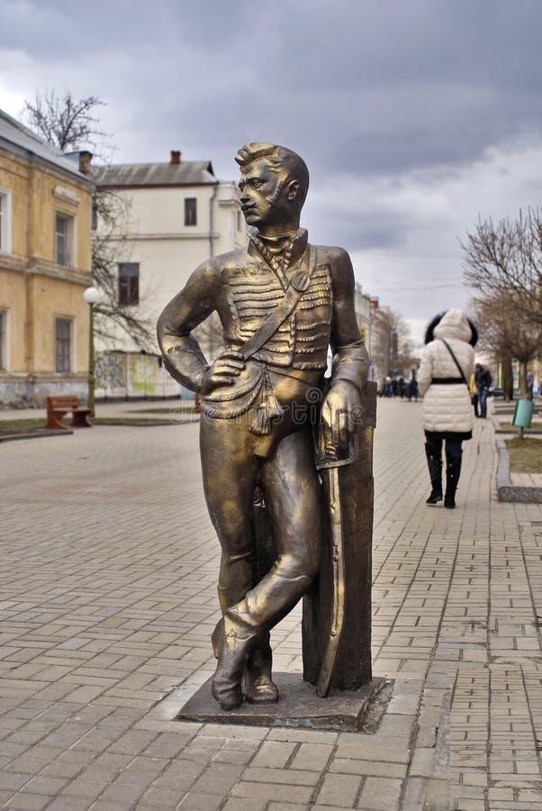 улица составов города скульптурная стоковое изображение