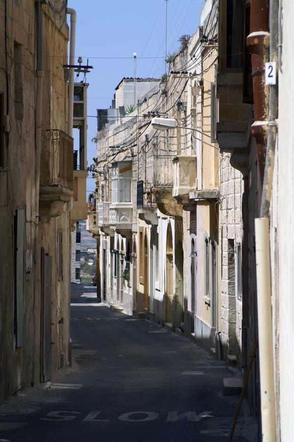 Улица старого города столицы Мальты, Валлетты стоковое фото rf