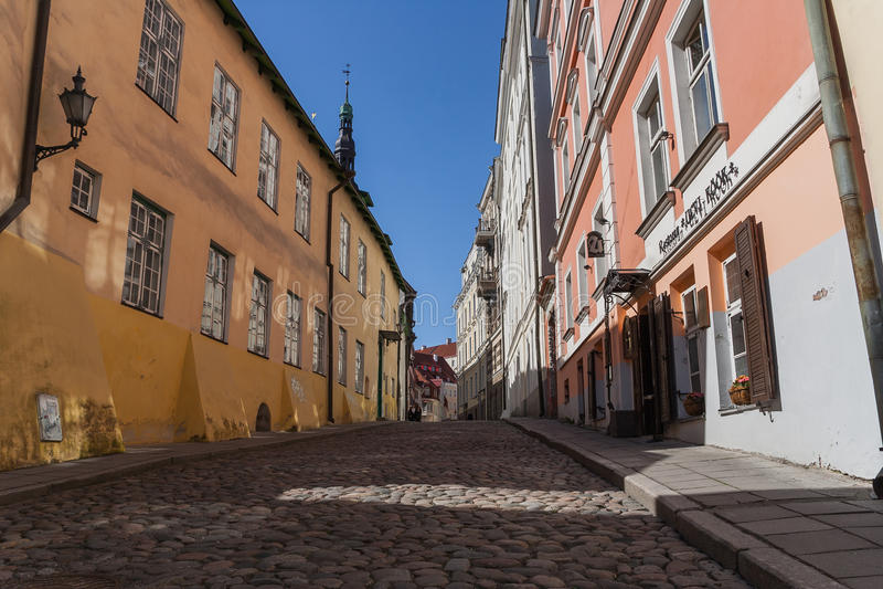 Улица Таллина стоковая фотография rf
