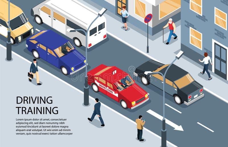 Улица управляя предпосылкой тренировки иллюстрация вектора