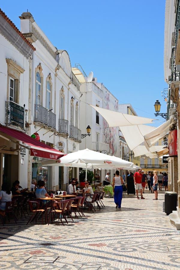 Улица центра города, Faro стоковое изображение