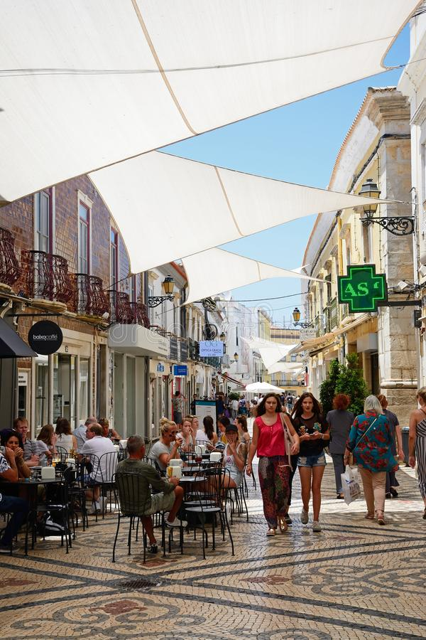 Улица центра города, Faro стоковое фото