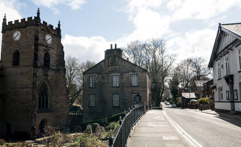 Улица церков, Upholland стоковое фото rf