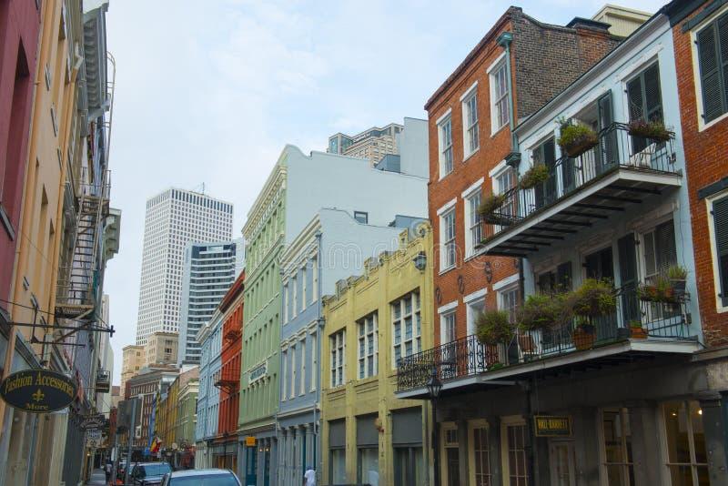 Улица Шартр в французском квартале, Новом Орлеане стоковое фото