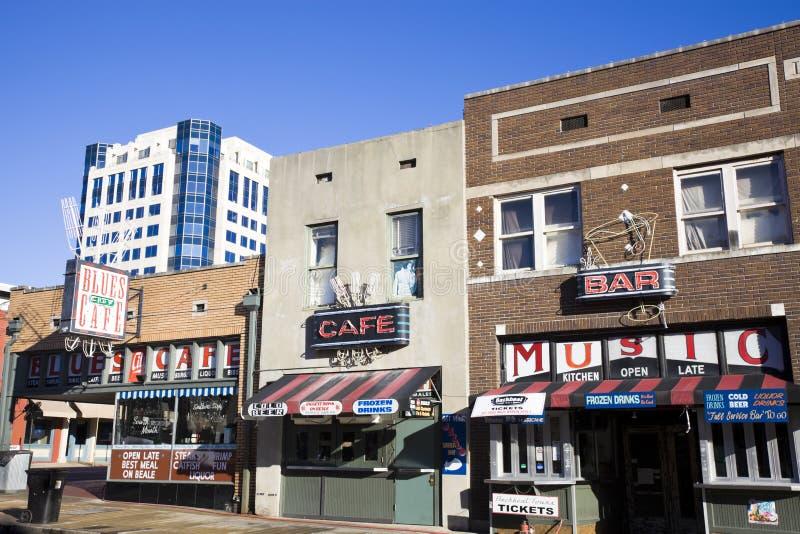 Улица Beale в Мемфис стоковые фото