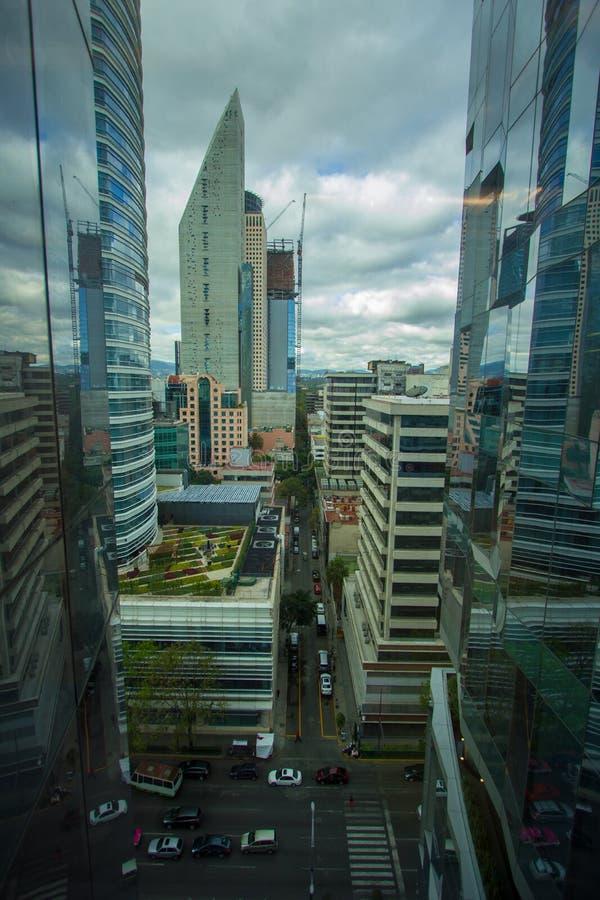 Улица CDMX панорамы Мехико стоковая фотография
