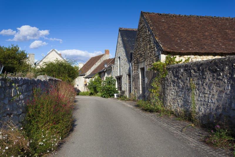 Улица Crissay-sur-Manse стоковое фото