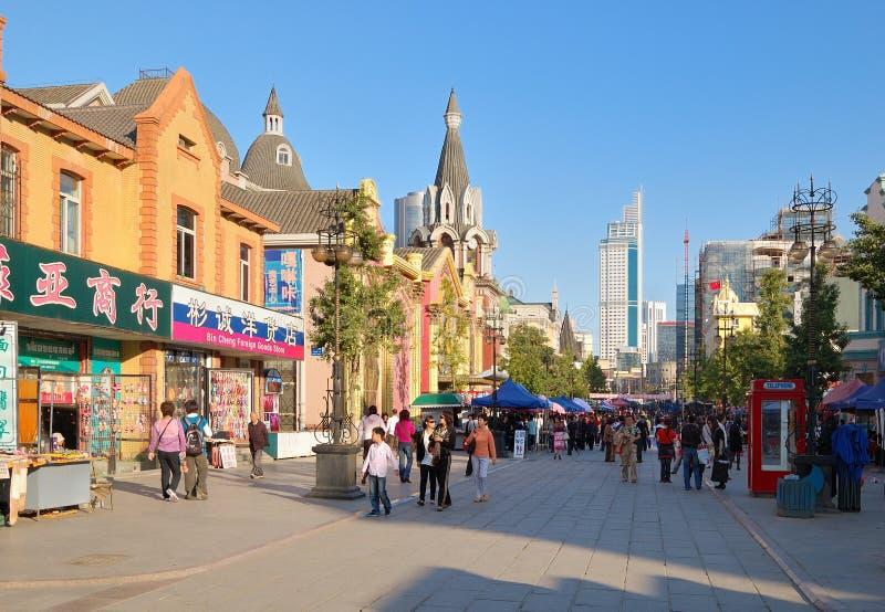 улица dalian города фарфора дела стоковые фото