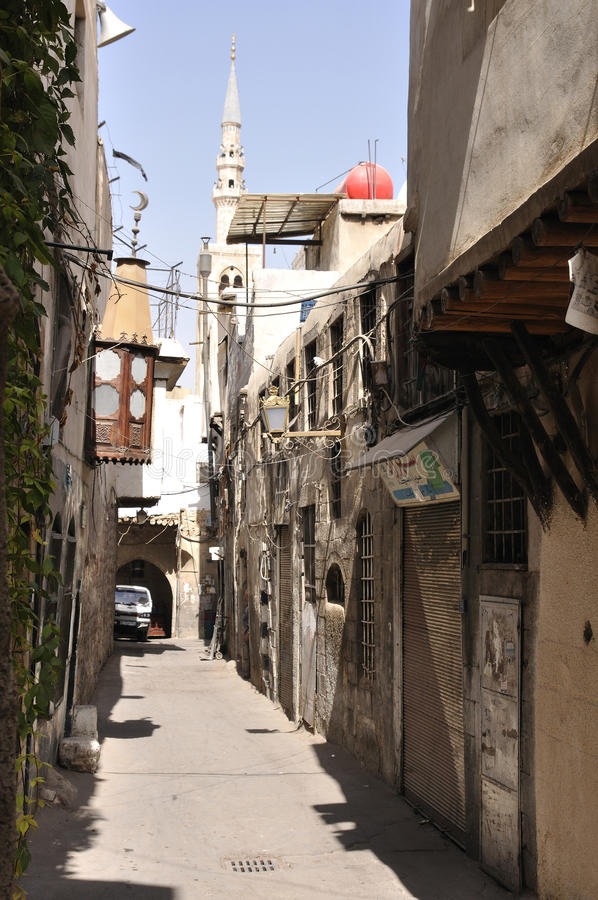 улица damascus старая стоковые фото
