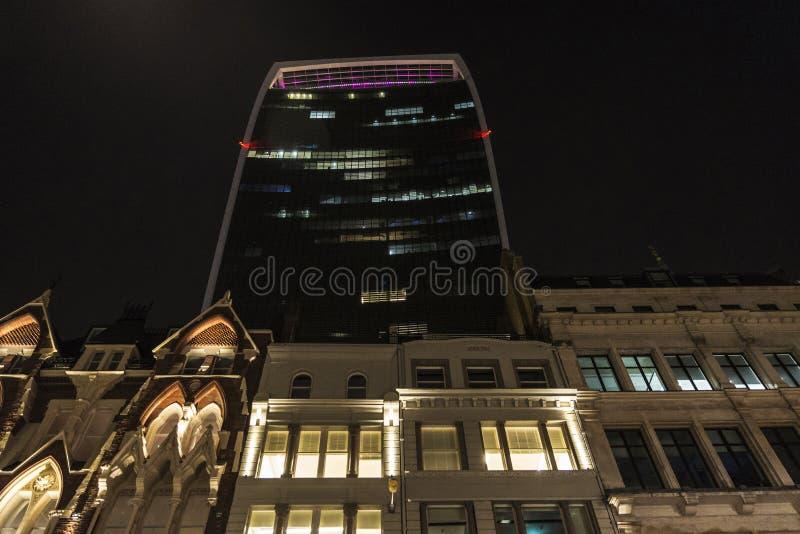 Улица 20 Fenchurch небоскреб в Лондоне, Англии Великобритании стоковая фотография