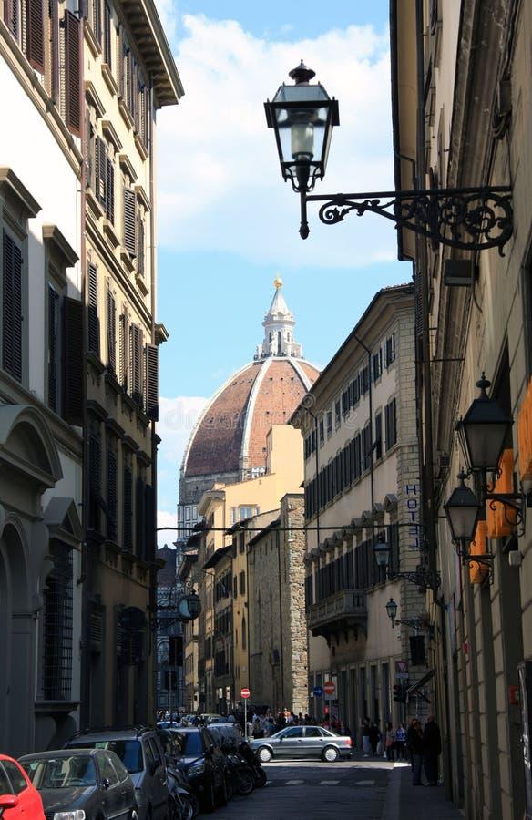 улица florence собора стоковое фото