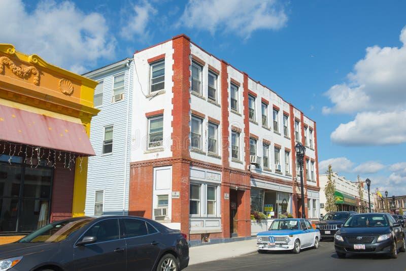 Улица Framingham Hollis, Массачусетс, США стоковые изображения