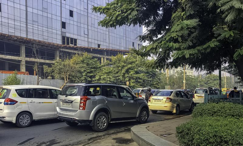 Улица Gurgaon/Gurugram, Нью-Дели стоковое изображение rf