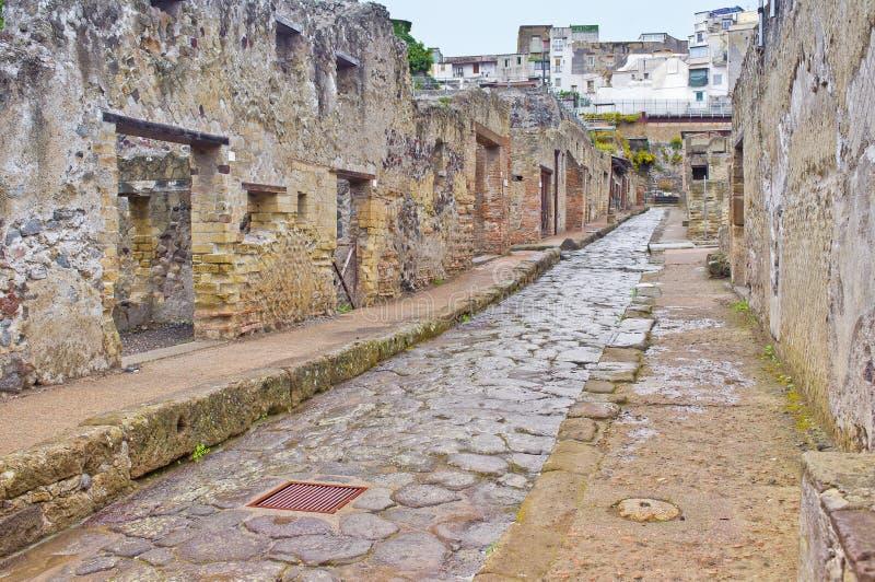 Улица Herculaneum, Италия стоковая фотография rf