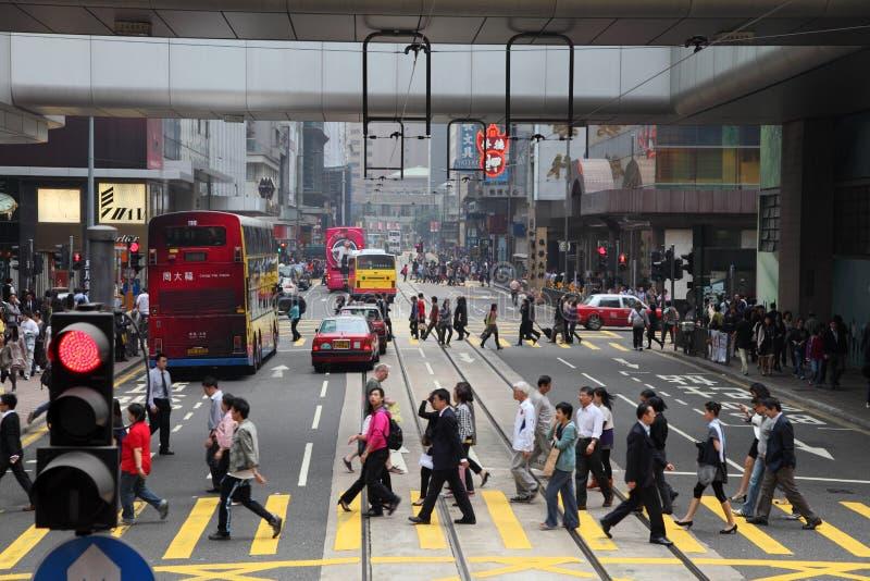 улица Hong Kong стоковое изображение