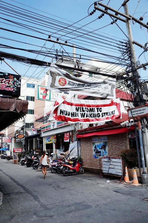 Улица Hua Hin идя стоковое фото rf