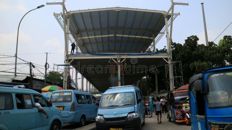 Улица Jatibaru Raya стоковое изображение