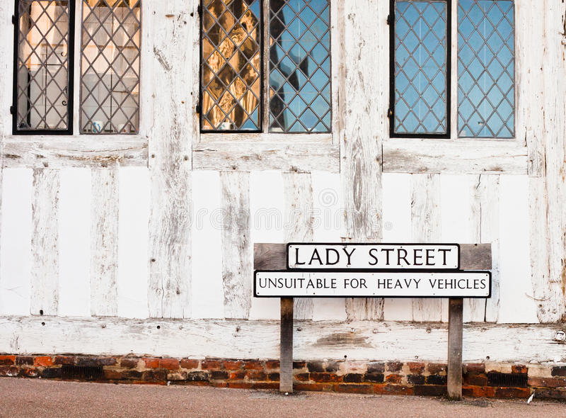 Улица Lavenham стоковые изображения rf