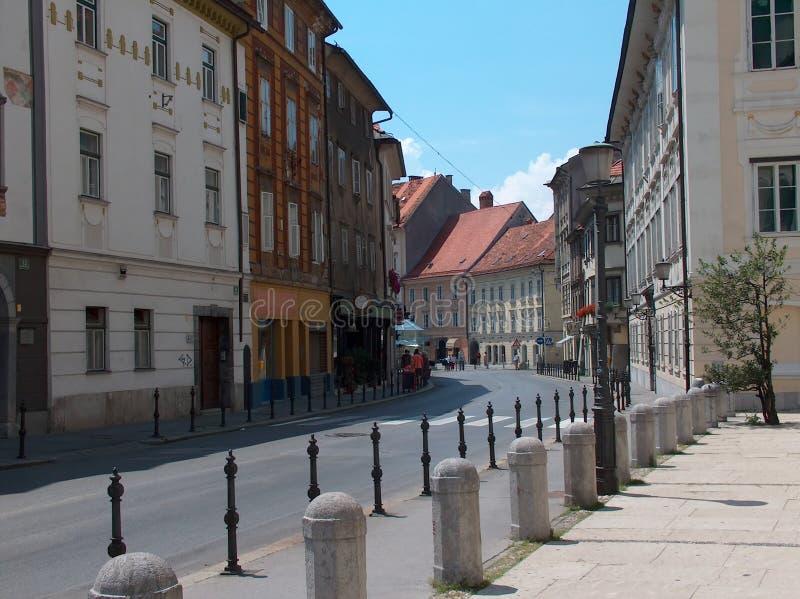 улица ljubljana стоковые изображения