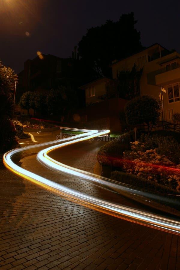улица lombard автомобиля стоковое изображение rf