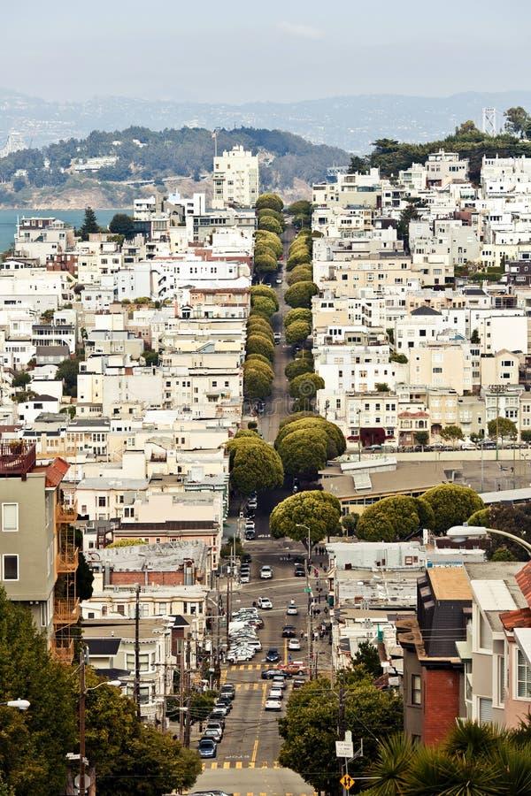 Улица Lombard, Сан-Франциско стоковое изображение