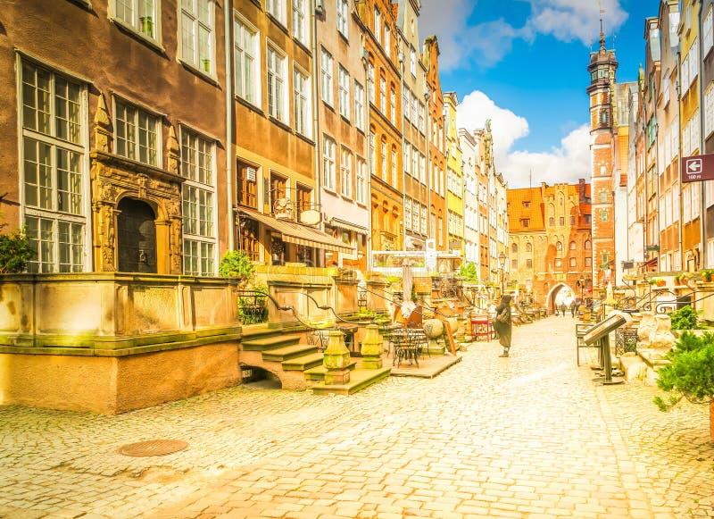 улица mariacka gdansk стоковое изображение rf