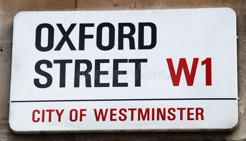 улица oxford стоковое изображение rf