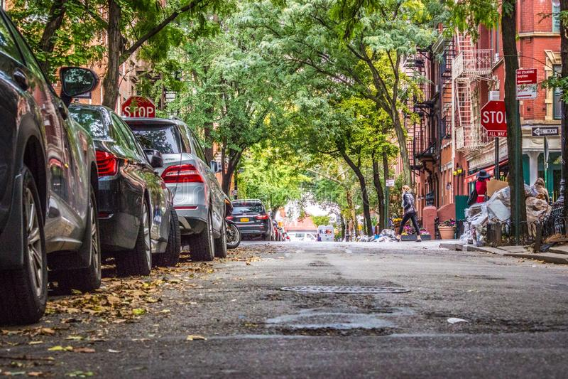 Улица Perry, Нью-Йорк, США стоковое фото