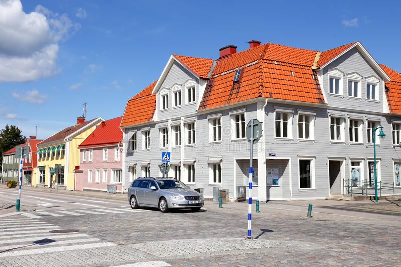 Улица Ronneby Strandgatan стоковая фотография