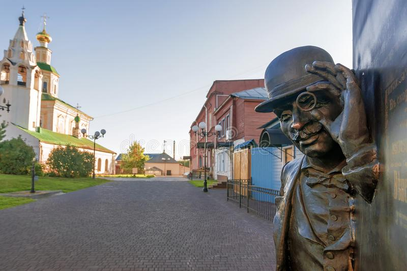 Улица ` s St. George в старом городке Владимира, России стоковые изображения rf