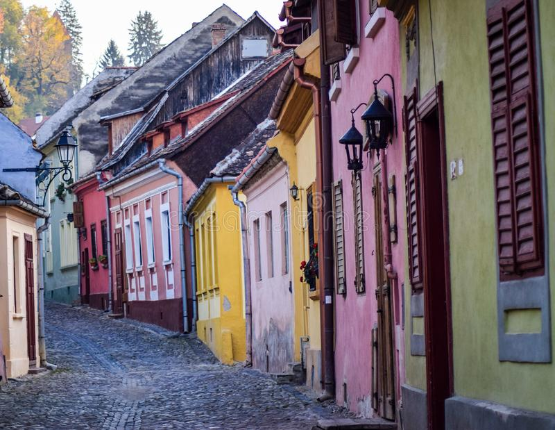 Улица Sighisoara старая стоковые фото