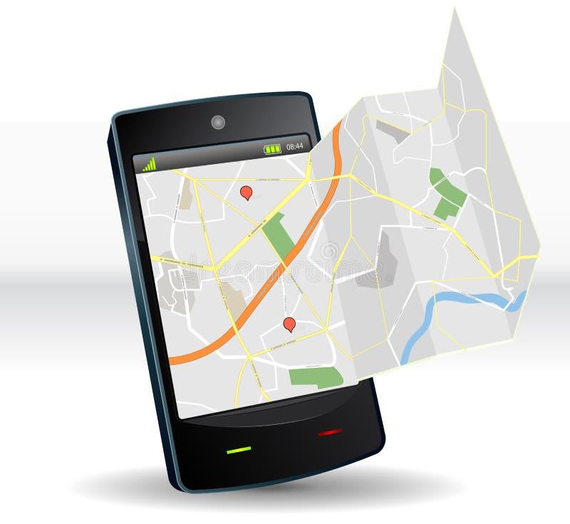 улица smartphone карты прибора передвижная бесплатная иллюстрация