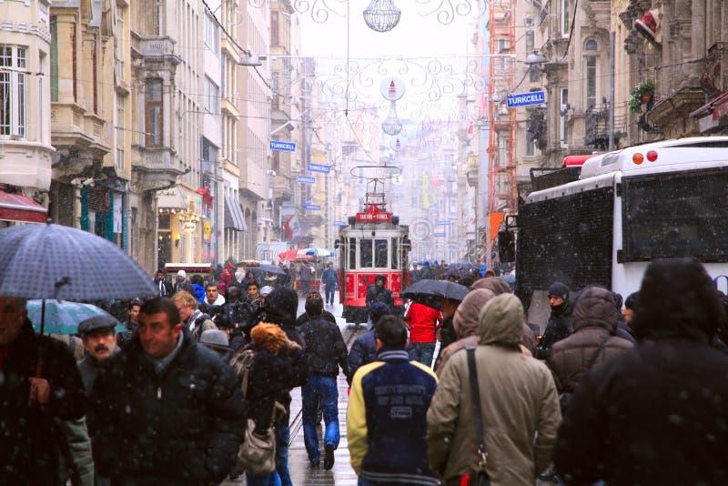 Улица Taksim-Istiklal в Стамбул стоковое фото