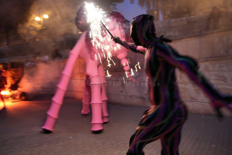 улица valencia парада стоковые фото