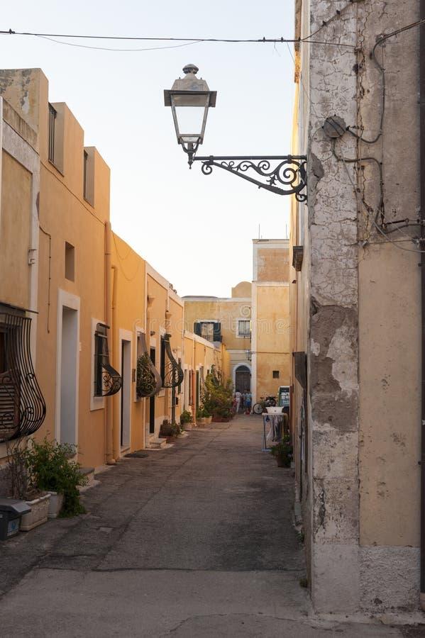 Улица Ventotene стоковое изображение