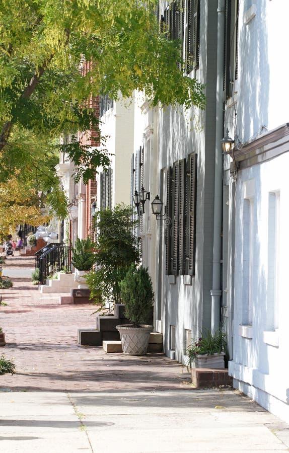 улица virginia alexandria стоковая фотография rf