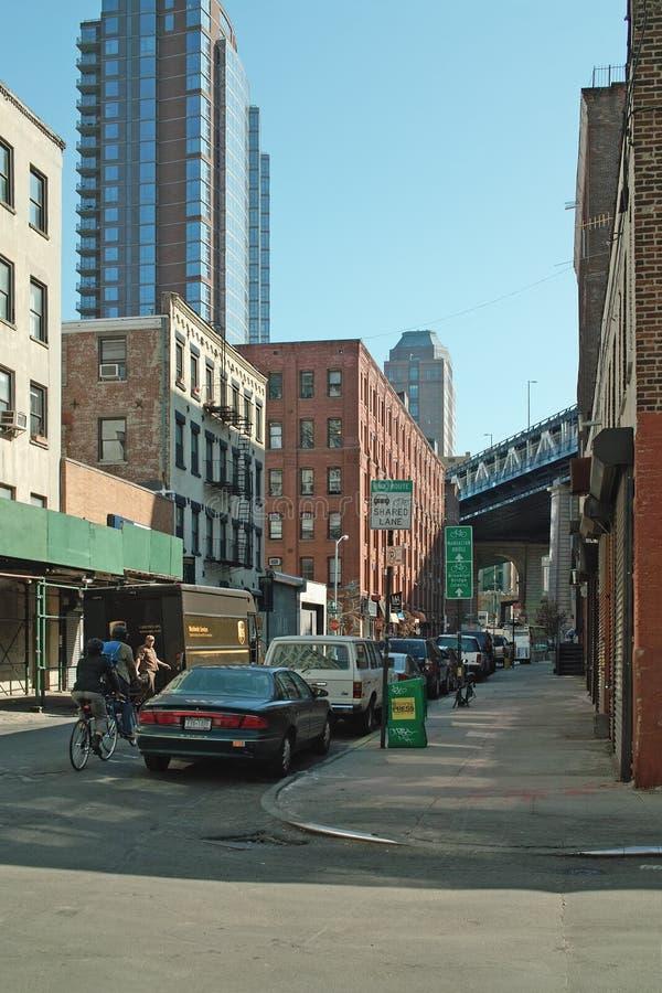 улица york перлы dumbo города brooklyn новая стоковое изображение