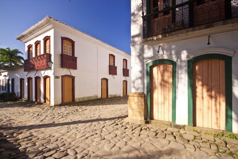 улицы Бразилии paraty стоковое изображение