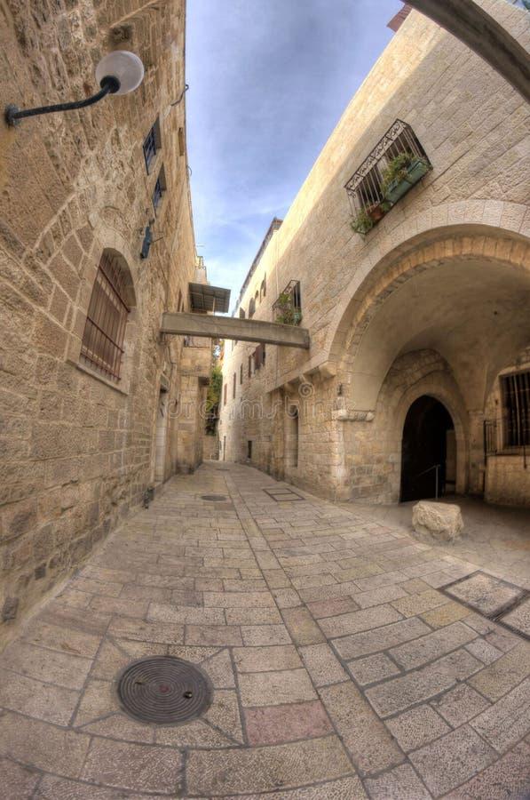 улицы Иерусалима старые стоковые изображения rf