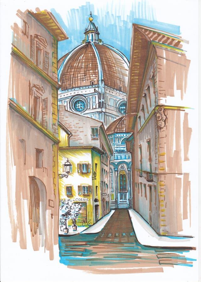 Улицы Италии бесплатная иллюстрация