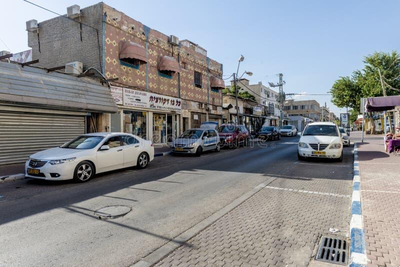 Улицы и дома в районе города Sheva пива стоковые изображения rf