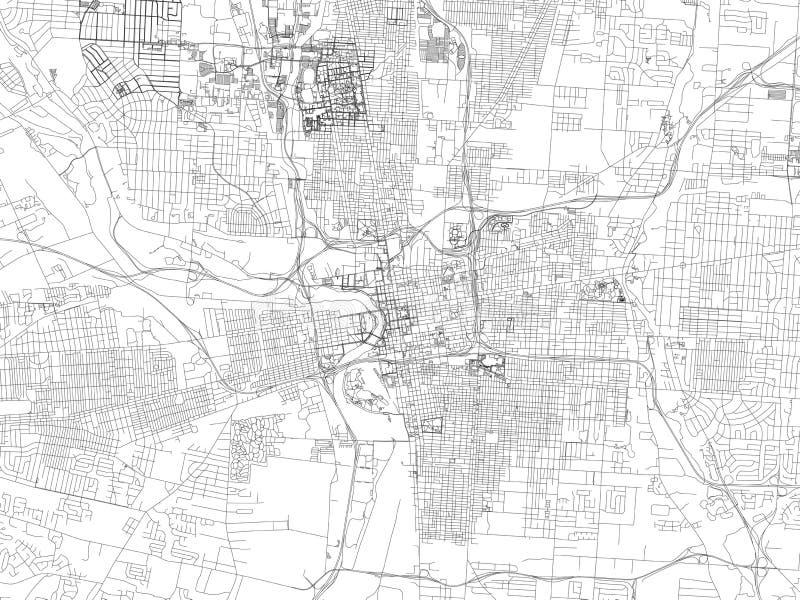 Улицы Колумбуса, карта города, Огайо США бесплатная иллюстрация