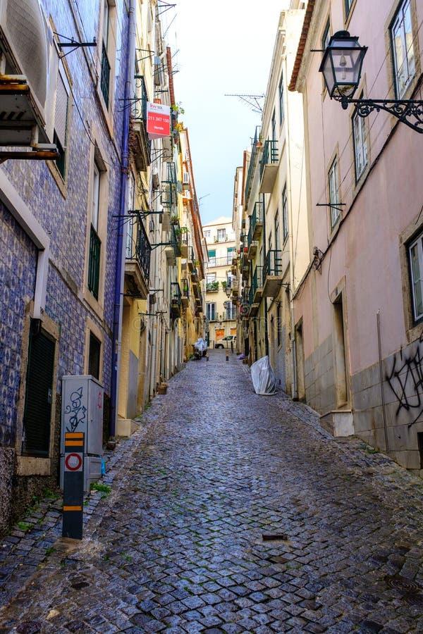 Улицы Лиссабона стоковые фотографии rf