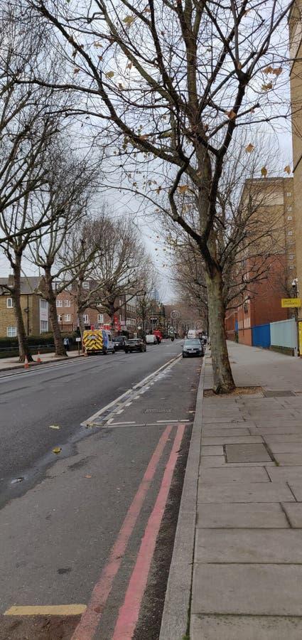 Улицы Лондона в осени стоковое фото rf