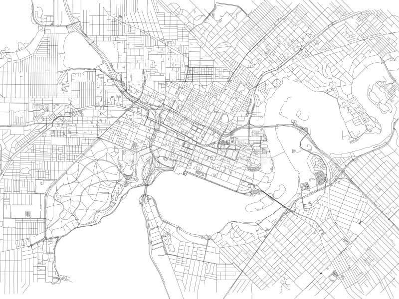 Улицы Перта, карты города, Австралии бесплатная иллюстрация