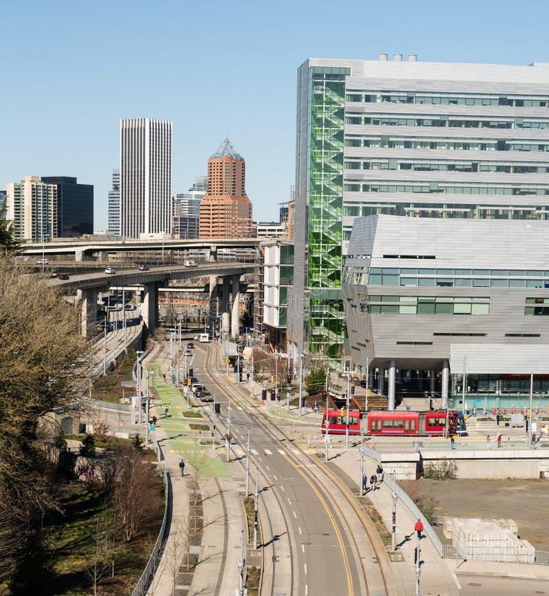 Улицы поезда инфраструктуры транспорта общественные Портленда Орегона стоковая фотография
