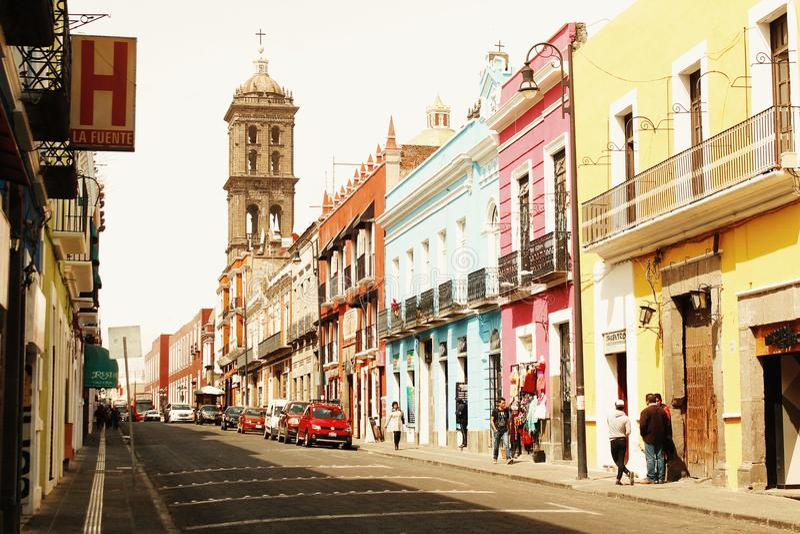 Улицы Пуэбла стоковая фотография rf