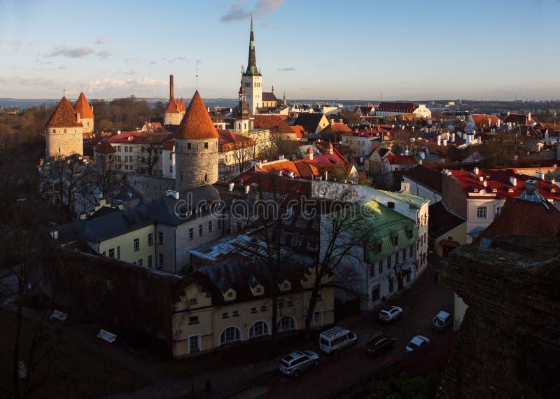Улицы старого городка Таллина эстония стоковая фотография rf