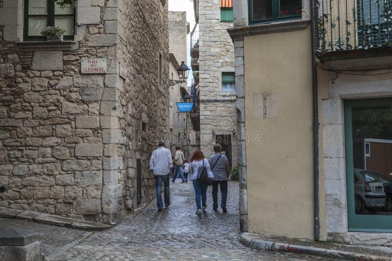 Улицы старой Хероны, Испании стоковое изображение rf