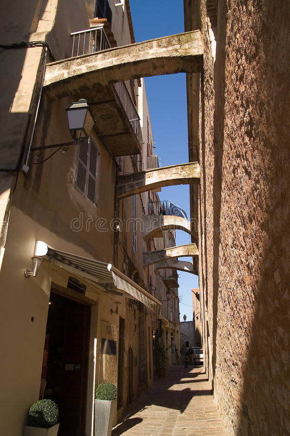 Улицы Bonifacio стоковое фото